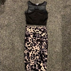 Charlotte Russe 2pc mini dress leopard